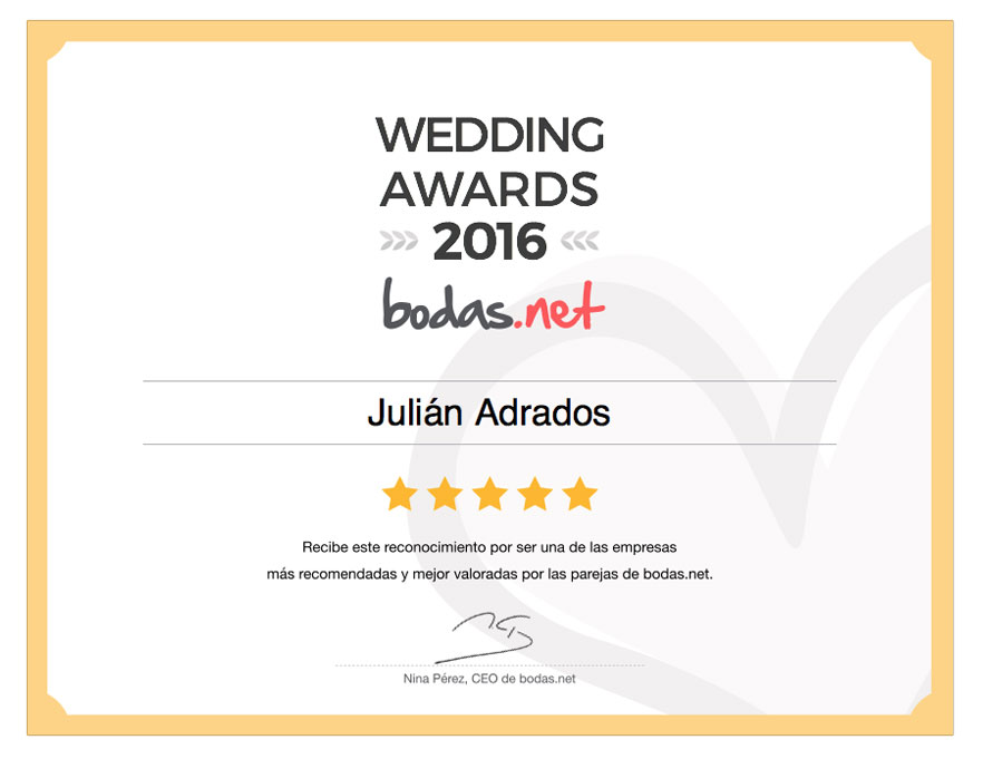 Julian Adrados | Wedding Awards 2014 | Bodas.net